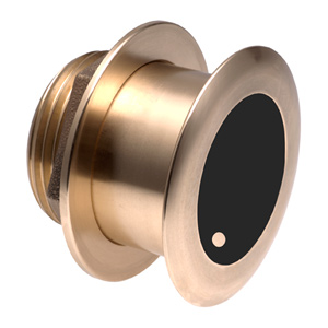 Bronze Tilted Thru-hull Transducer with Depth & Temperature (0° tilt, 8-pin) - Airmar B175M