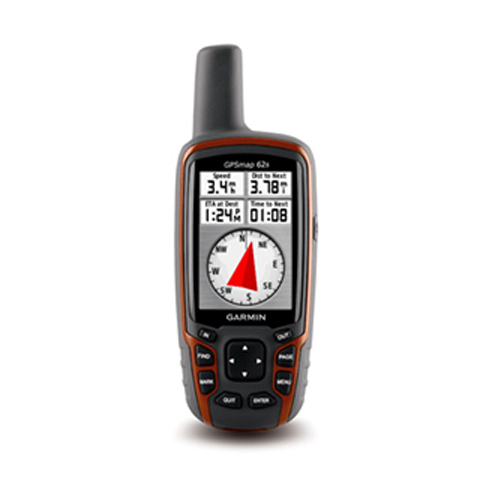 Orange Garmin GPSMAP 62s GPS Base Europe Relief ombr/é Taille d/écran 2,6 Etanche jusqu/à 1 m Gris